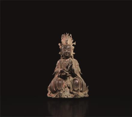 明  铜制西王母坐像