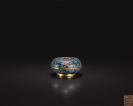明  铜胎掐丝珐琅花卉纹香盒
