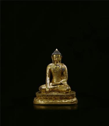 13世纪  铜鎏金释迦牟尼佛