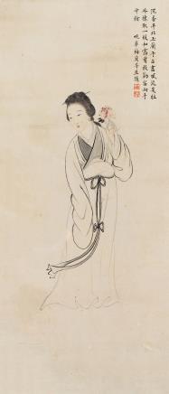 梅兰芳(1894-1961)持香仕女