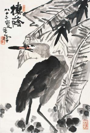 李苦禅(1899-1983)栖荫图