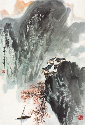 张登堂(1944-2015)山居图