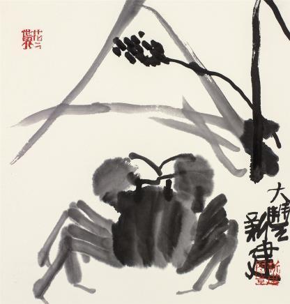朱新建(1953-2014)秋趣图