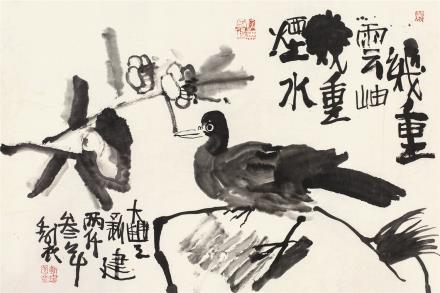 朱新建(1953-2014)赏花图
