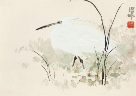 孙其峰(b.1920)白鹭