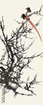 孙其峰(b.1920)梅花绶带