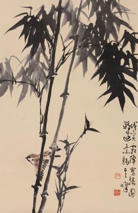孙其峰(b.1920)竹雀图