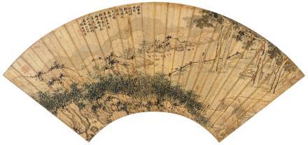 沈周(1427-1509)竹梧高隐图