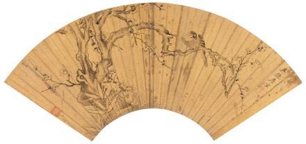 唐寅(1470-1523)梅雀图