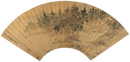 仇英(15-16世紀)江堤闲钓