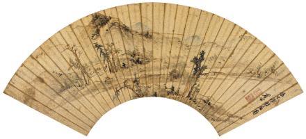 陈继儒(1558-1639)溪山幽居图