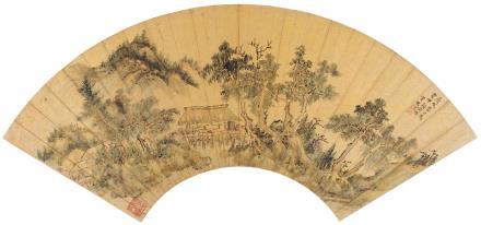 丁云鹏(1547-1628)翠林幽亭