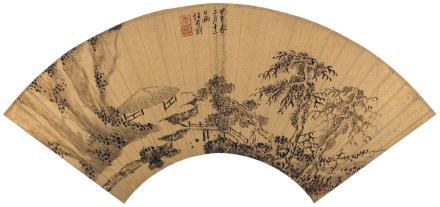 任有刚(1618-1683)归庄图