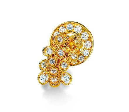 配钻石花卉戒指