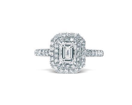 1.00克拉F色钻石戒指
