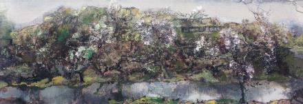 洪凌幽江布面油画2005年