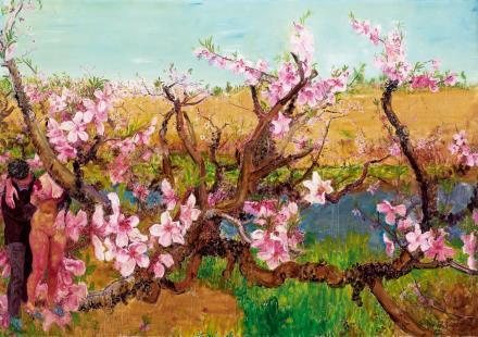 周春芽轻薄桃花逐水流