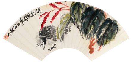齐白石(1864-1957)安居图