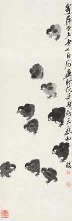 齐白石(1864-1957)雏鸡图