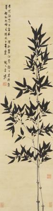 金农(1687-1763)墨竹图