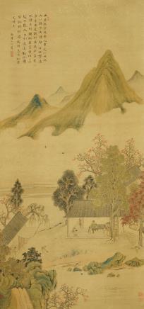 华嵒(1682-1756)夏日山居图