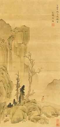 邵弥(约1592-1642)观瀑图