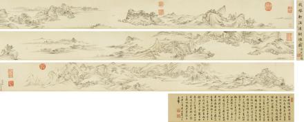钱维城(1702-1772)渔浦翰烟