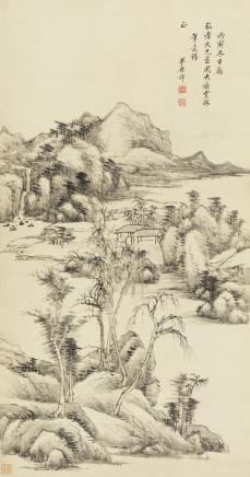 王原祁(1642-1715)仿倪黄山水