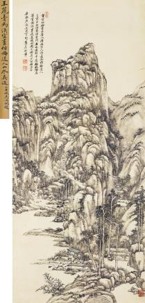 王原祁(1642-1715)仿梅道人山水