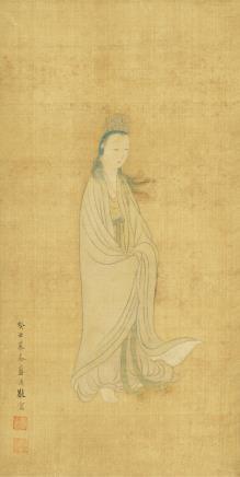 蓝瑛(1585-1666)观音大士