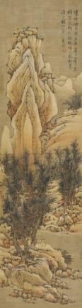 蓝瑛(1585-1666)溪上仙家