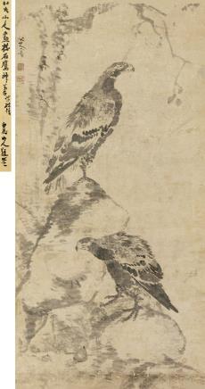 八大山人(1626-1705)双鹰图