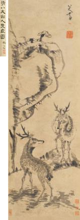 八大山人(1626-1705)福禄长春