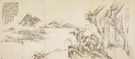 陈师曾(1876-1923)山水六屏