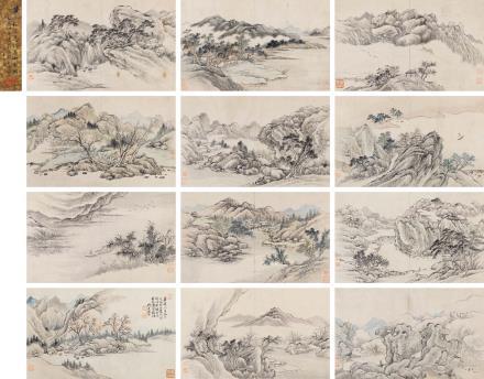 黄易(1744-1802)仿古山水册