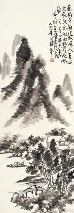 蒲华(1839-1911)夜雨归舟