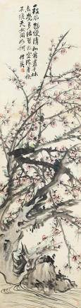 蒲华(1839-1911)东坡梅花诗意图