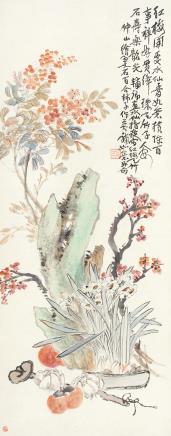 蒲华(1839-1911)清供图