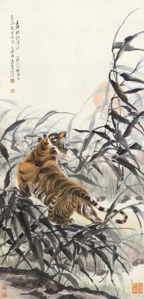 张善孖(1882-1940)虎
