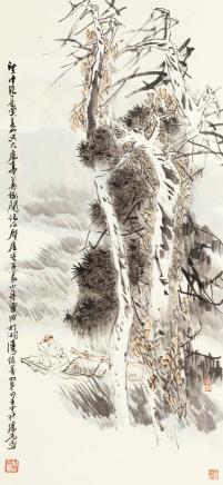 方增先(b.1931)泊舟图