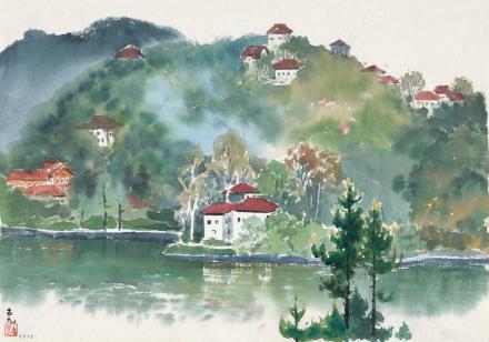 古元(1919-1996)庐山小景