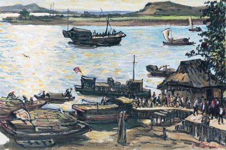 符罗飞(1896-1971)蓬江码头
