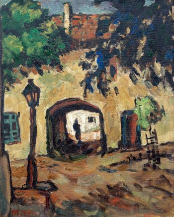 胡一川(1910-2000)街景