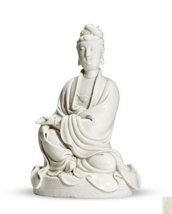 清中期德化窯觀音坐像
