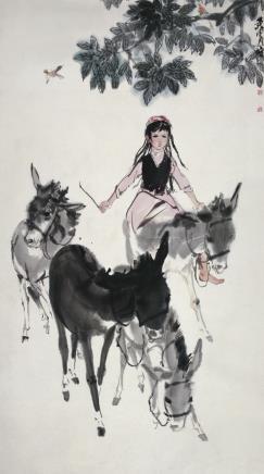 黄胄(1925-1997)赶驴图