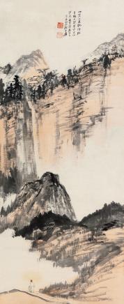 张大千(1899-1983)  青城上清宫