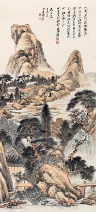 张大千(1899-1983)  溪山逸居图