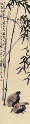 齐白石(1864-1957)竹鸡图