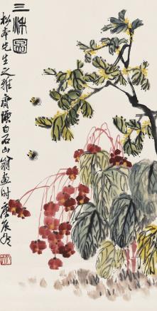 齐白石(1864-1957)三秋图