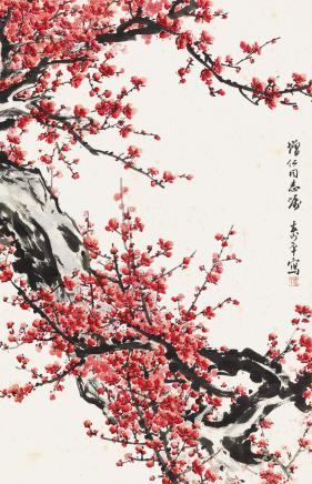 董寿平(1904-1997)  红梅